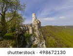 the romantic castle of... | Shutterstock . vector #498672130