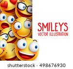funny smiley face vector... | Shutterstock .eps vector #498676930