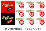 black friday sales tag. vector... | Shutterstock .eps vector #498677764