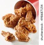 Crispy Fried Chicken Falling...
