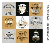 merry christmas and happy new... | Shutterstock .eps vector #498698788