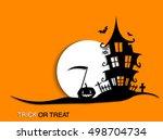 scary halloween moonlight... | Shutterstock .eps vector #498704734