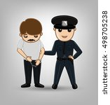 lady police arrested a fraud... | Shutterstock .eps vector #498705238