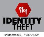 stop identity theft vector... | Shutterstock .eps vector #498707224