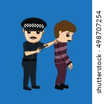 police arrested a thief | Shutterstock .eps vector #498707254