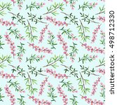 watercolor seamless pattern... | Shutterstock . vector #498712330