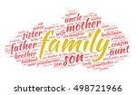 family kinship words cloud ... | Shutterstock .eps vector #498721966