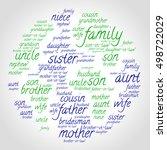 family words cloud in shape of... | Shutterstock .eps vector #498722029