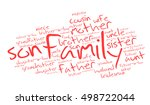 family relations words cloud on ... | Shutterstock .eps vector #498722044