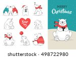 merry christmas greetings with... | Shutterstock .eps vector #498722980