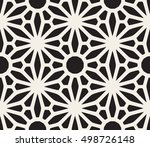 vector seamless black and white ... | Shutterstock .eps vector #498726148
