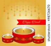 happy diwali illustration ... | Shutterstock .eps vector #498726670