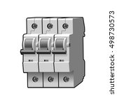 molded case circuit breaker.... | Shutterstock . vector #498730573