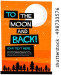 to the moon and back  flat... | Shutterstock .eps vector #498733576