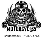vector monochrome image on a... | Shutterstock .eps vector #498735766