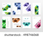 geometric background template... | Shutterstock .eps vector #498746068