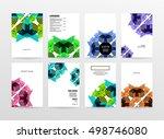 geometric background template... | Shutterstock .eps vector #498746080