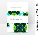 geometric background template... | Shutterstock .eps vector #498746170
