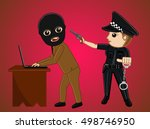 police arrested a hacker | Shutterstock .eps vector #498746950