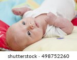 cute newborn baby portrait...   Shutterstock . vector #498752260