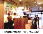 abstract blur people in coffee... | Shutterstock . vector #498752830