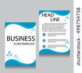 vector brochure flyer design... | Shutterstock .eps vector #498754738