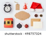 christmas decorations and... | Shutterstock . vector #498757324
