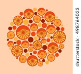 new year design with citrus   Shutterstock .eps vector #498764023