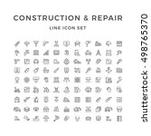 set line icons of construction... | Shutterstock .eps vector #498765370