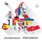 europe map combined with... | Shutterstock .eps vector #498768034