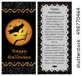 template for happy halloween... | Shutterstock .eps vector #498770464