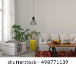 3d illustration. modern living... | Shutterstock . vector #498771139