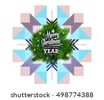 christmas design and elements... | Shutterstock .eps vector #498774388