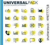 set of 25 universal editable... | Shutterstock .eps vector #498777718