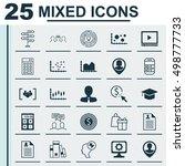 set of 25 universal editable... | Shutterstock .eps vector #498777733