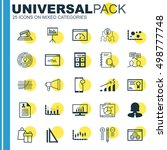 set of 25 universal editable... | Shutterstock .eps vector #498777748
