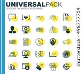 set of 25 universal editable... | Shutterstock .eps vector #498777754