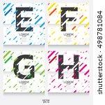 label template. color alphabet... | Shutterstock .eps vector #498781084