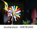 windmill on a blurred bokeh... | Shutterstock . vector #498781483