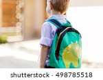child leaving home to his first ... | Shutterstock . vector #498785518