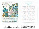 calendar template 2017 with...   Shutterstock .eps vector #498798010