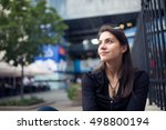 woman relaxing in afternoon... | Shutterstock . vector #498800194