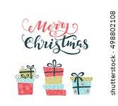vector holiday calligraphy  ... | Shutterstock .eps vector #498802108
