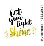 let your light shine bible... | Shutterstock . vector #498815614