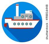 ship  ship icon. flat design ... | Shutterstock .eps vector #498816448