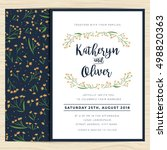 wedding invitation card... | Shutterstock .eps vector #498820363