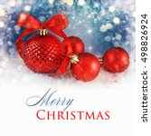 merry christmas and happy new... | Shutterstock . vector #498826924
