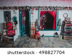 christmas in the window on...   Shutterstock . vector #498827704