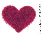 valentine fur pink heart ...   Shutterstock .eps vector #498831856