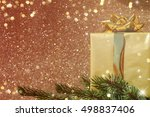 family holiday  christmas tree... | Shutterstock . vector #498837406